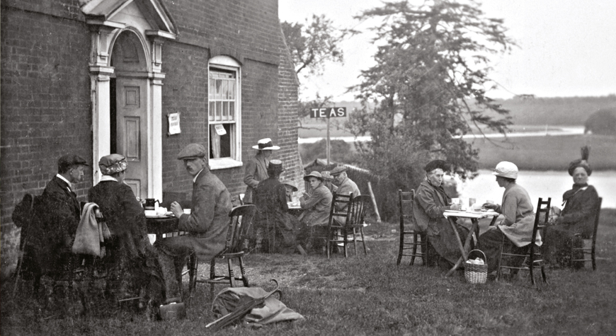 Cream teas outside the Master Builder's House