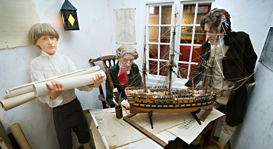 Henry Adams model in the Maritime Museum