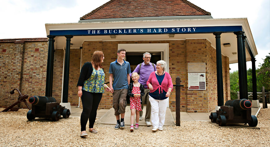 Exterior of the Maritime Museum and Buckler's Hard Story