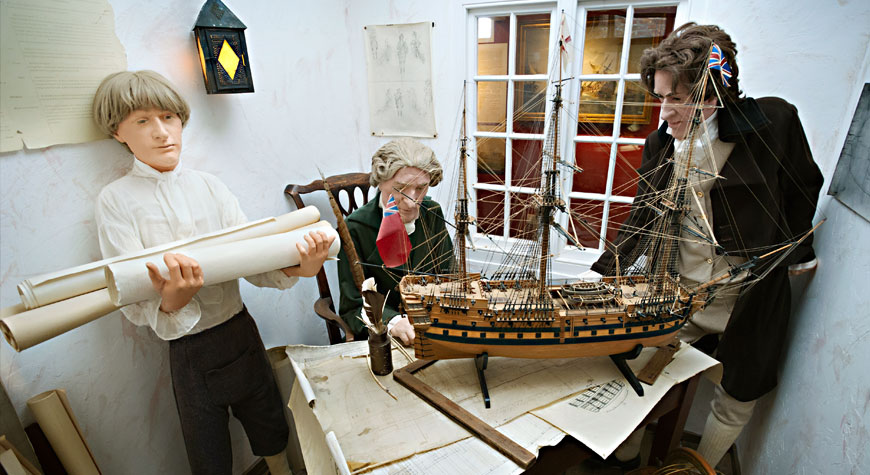 Model of Henry Adams' office in the Maritime Museum