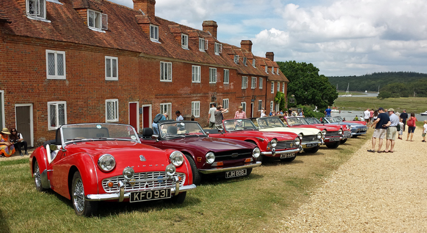 Triumph car rally