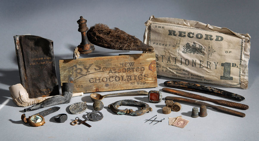 Artefacts recovered from the SS Persia