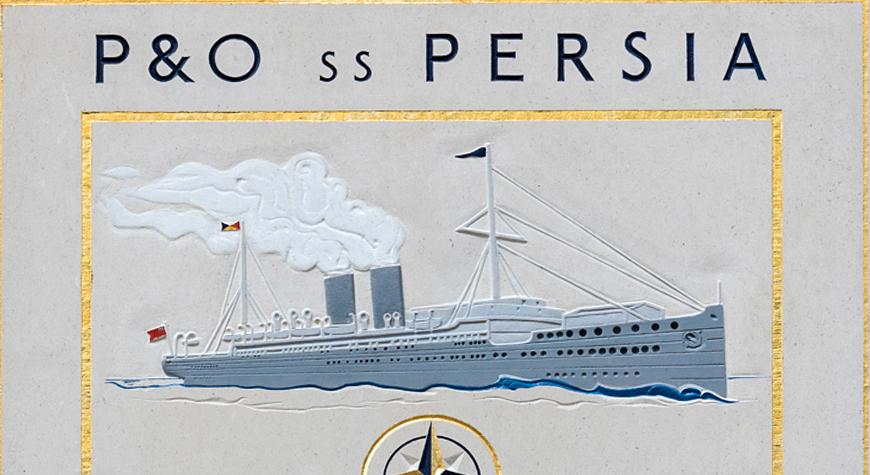 SS Persia memorial sundial