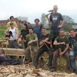 Shipwright School Blog - The Professionals finish off the Hewing and Sawing