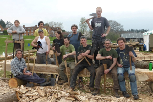 Henry Russell and fellow professional timber frame carpenters