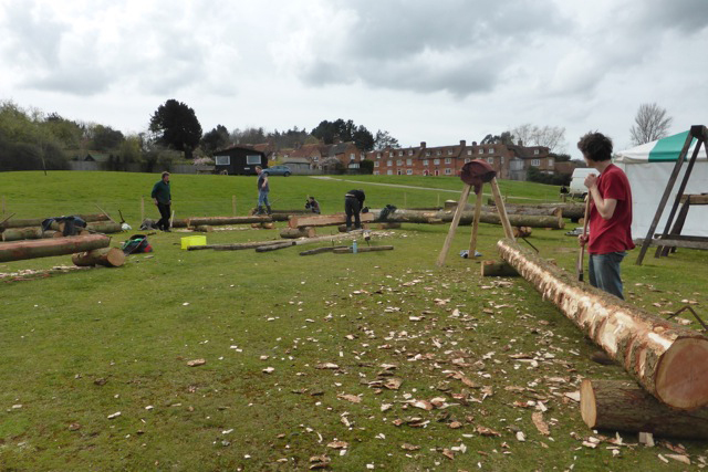 Hewing and sawing