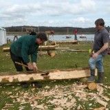 Shipwright School Blog - Hewing and Sawing Gets Underway