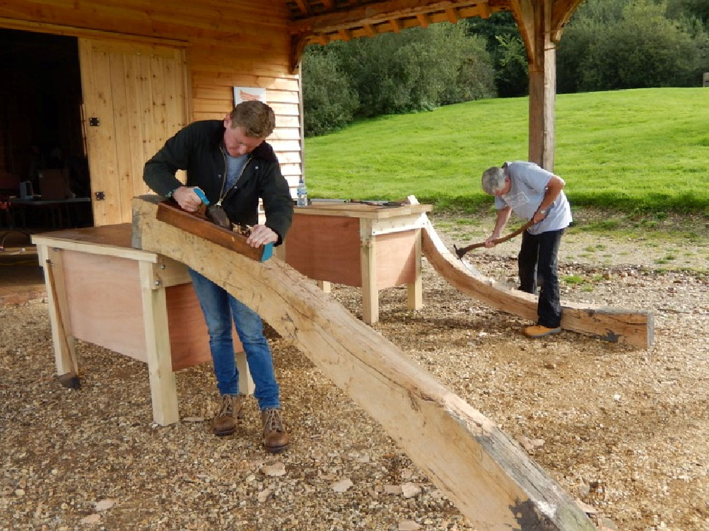 IBTC students working outside the Shipwrights' Workshop