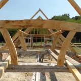 Shipwright School Blog - The Timber Frame Takes Shape