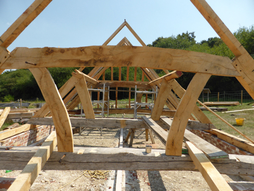 Shipwright School timber frame takes shape
