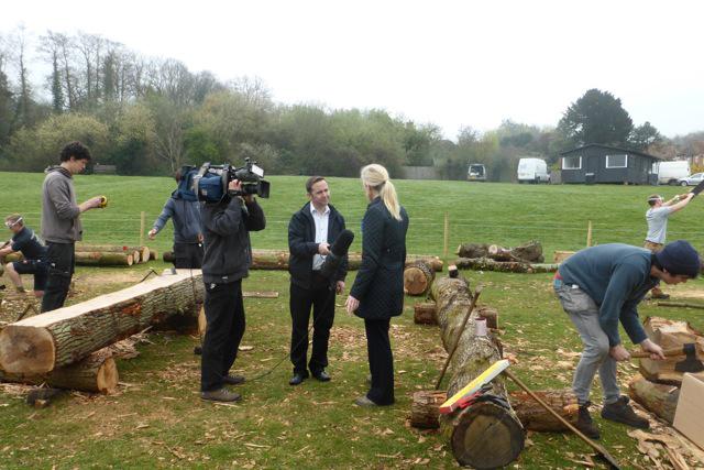 Mary Montagu-Scott interviewed for TV