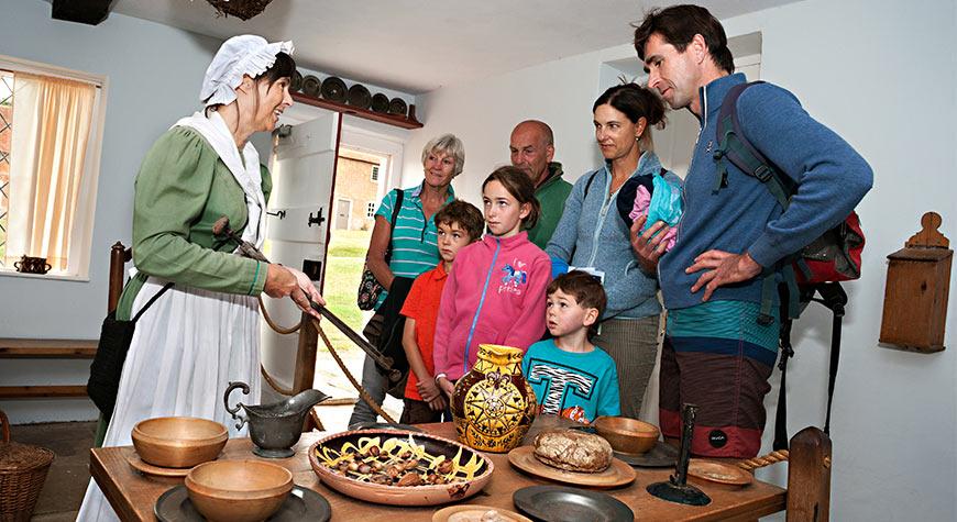 Kitchen living history demonstration