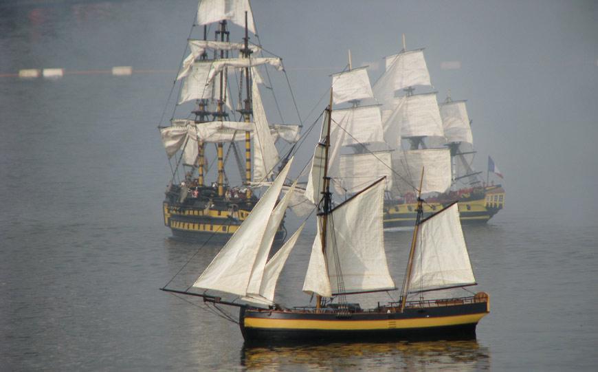 Portsmouth Model Boat Display Team model ships