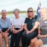Theresa May sails on the Beaulieu River to visit Buckler's Hard