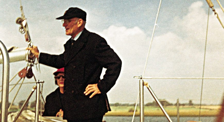 Sir Francis Chichester on Gipsy Moth II