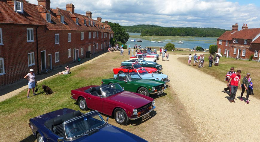 Car rally at Buckler's Hard