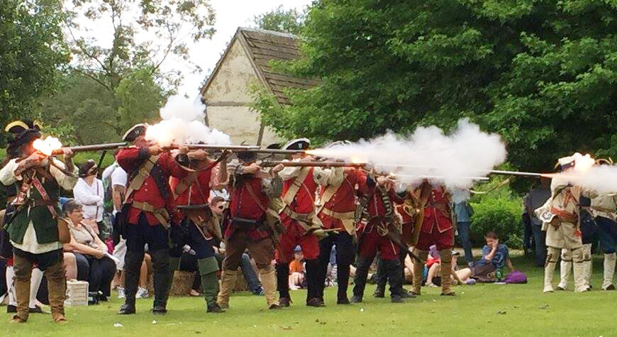 Soldiers & Skirmishes - New France & Old England firing line