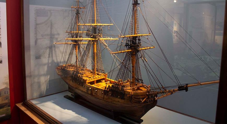 HMS Kennington model in Buckler's Hard Maritime Museum