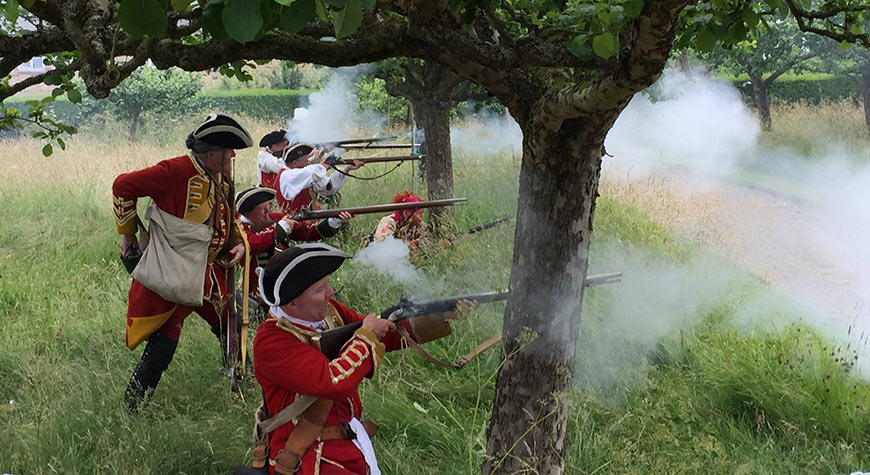 Soldiers & Skirmishes - New France & Old England skirmish battle